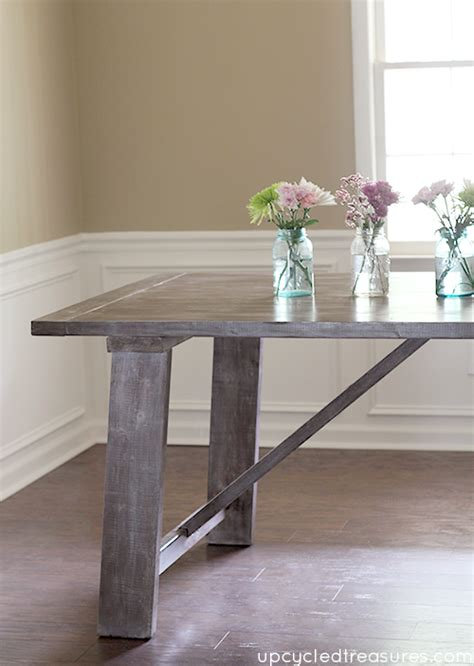 West Elm Rustic Dining Table West Elm Inspired Rustic Dining Room Table Favecrafts