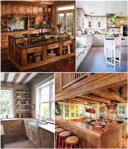 rustic country kitchen design 35 rustic and country kitchen design ideas