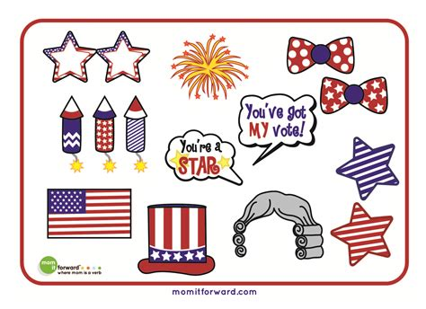 printable patriotic photo booth props 4th of july photo booth printables mom it forward