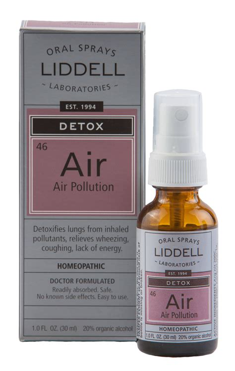 Vital Lung Detox Ingredients by Air Pollution Liddell Laboratories