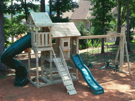 backyard playground custom wooden swing sets playsets