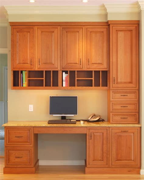 kitchen cabinet desk ideas alkamedia