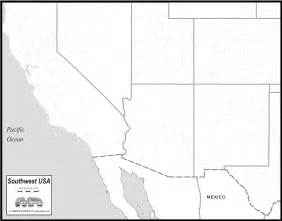 free map of southwest states