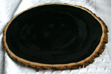 chalkboard paint wood slices rustic chalkboard countdown dukes and duchesses