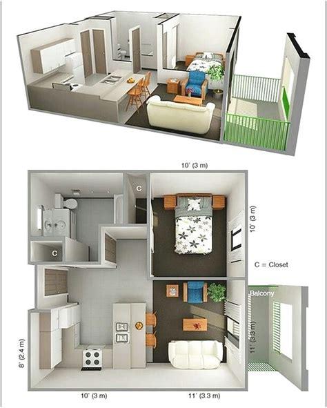 One Bedroom Apartment Designs Exle 71 Gambar Denah Rumah Minimalis Sederhana 3d Terbaru Dekor Rumah