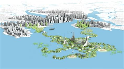 floating blue bold plan  expand dense cities  open