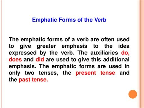Credit Verb Form emphatic verbs related keywords emphatic verbs