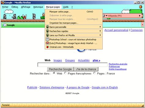 Grab A Mario Bros Theme For Your Firefox Browser by Thunderbird En Tant Que Lecteur Rss Dans Firefox2 Ou Le