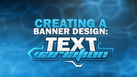 banner design with photoshop tutorial photoshop tutorial creating a banner text variation