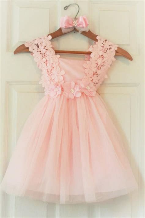 Flower Pink Tweety Dress flower dress flower dress light pink birthday