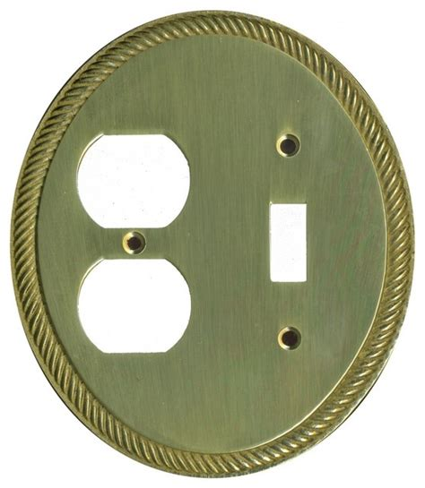 Kontra Cover Plate Oval solid brass toggle outlet switchplate oval braided transitional switch plates and outlet