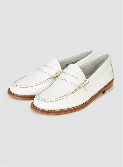 loafers for white g h bass co brice loafer white in white for