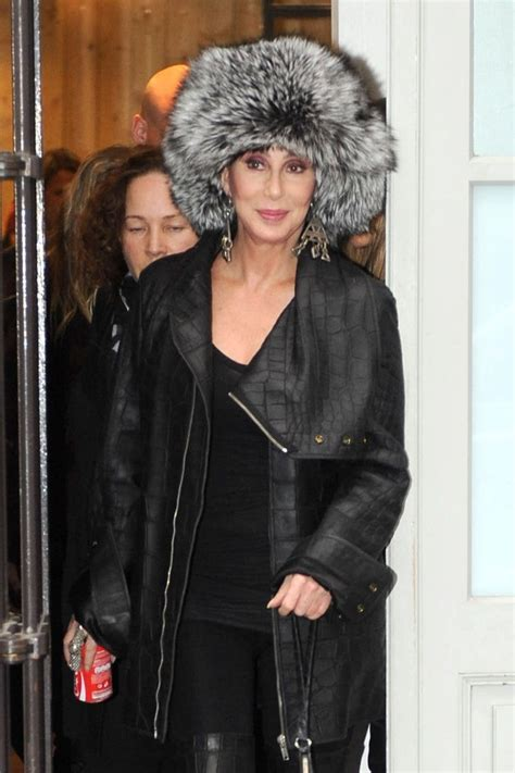 cher mp cher leather coat cher clothes looks stylebistro