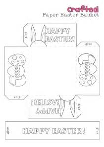 free printable easter baskets templates crafted easter craft printable easter basket easter