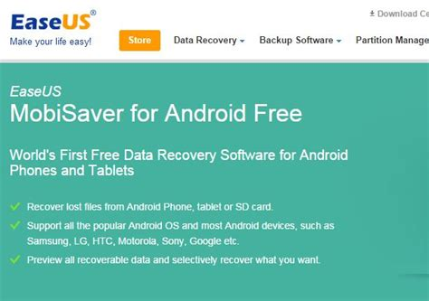 android data recovery free easeus mobisaver for android review