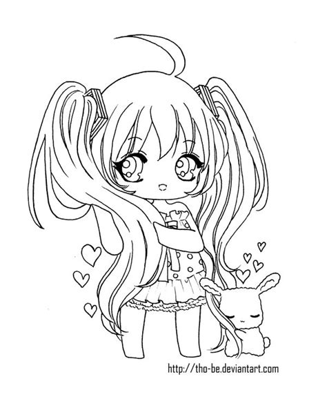 28 Best Color And Draw Images On Pinterest Drawings Anime Coloring Page Chibi Printable