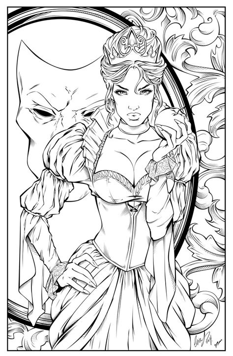 Evil Queen   Digital Inking by LeoVitalis on DeviantArt