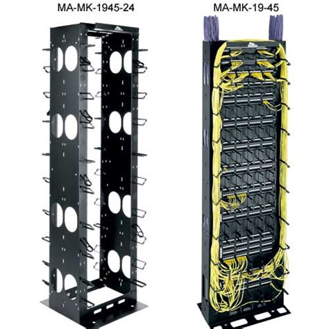 Patch Rack Cable Management by Middle Atlantic Mk Series 19 Inch Cable Management Racks