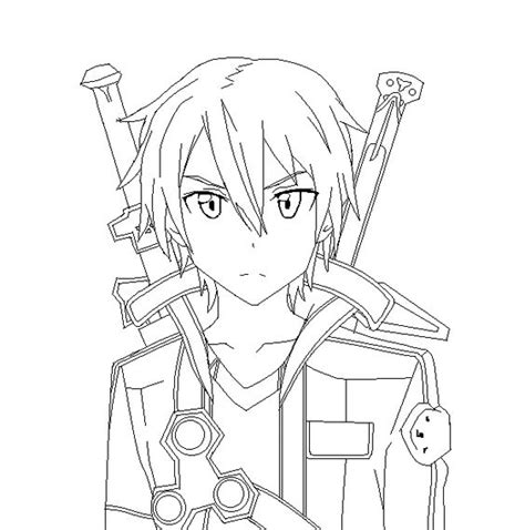 anime coloring pages sword art online sword art online coloring pages images pictures