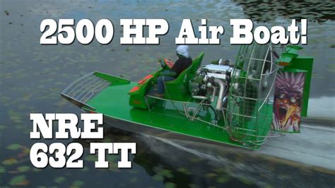 boats with big fans 2500 hp florida air boat lol green man destroys out