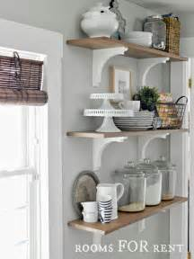 Decorative Open Shelving Open Shelves In The Kitchen Greyt On The Walls