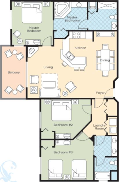 Bonnet Creek Floor Plans | wyndham bonnet creek deluxe 3 bedroom