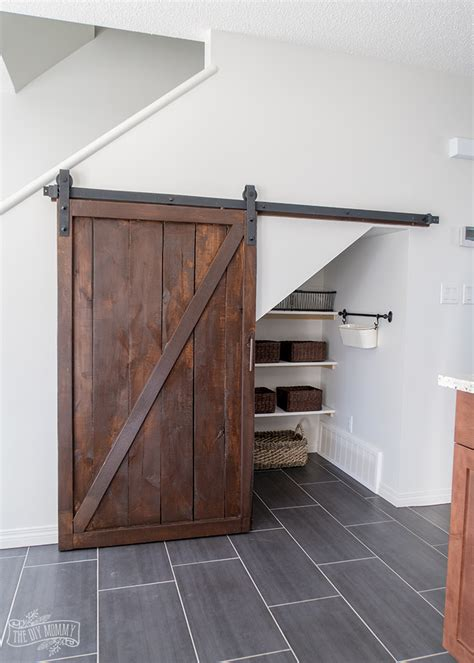 Sliding Barn Door Pantry How To Build An Stairs Pantry With A Diy Sliding Barn Door The Diy