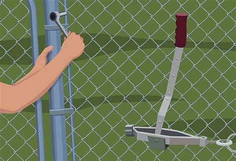 repairing  chain link fence repairing maintaining