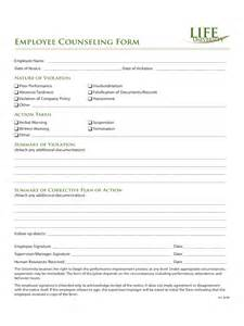 counseling memo template employee counseling form 2 free templates in pdf word