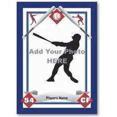 baseball card photo template baseball card templates free blank printable