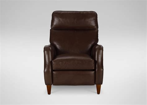 Gray Oversized Recliner Aiden Leather Recliner Omni Brown Custom Ship