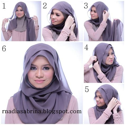 beautiful hijab tutorial    face hijabiworld
