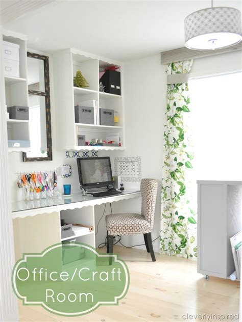 office and craft room office makeover and more cleverly inspired shanty 2 chic