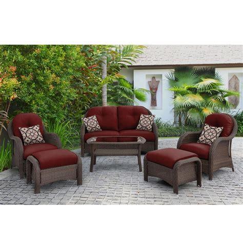 Shop Hanover Outdoor Furniture Newport 6 Piece Wicker