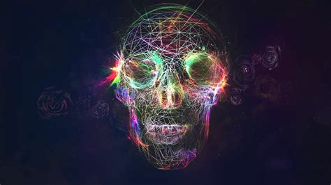 wallpaper abstract skull abstract skull wallpapers and images wallpapers