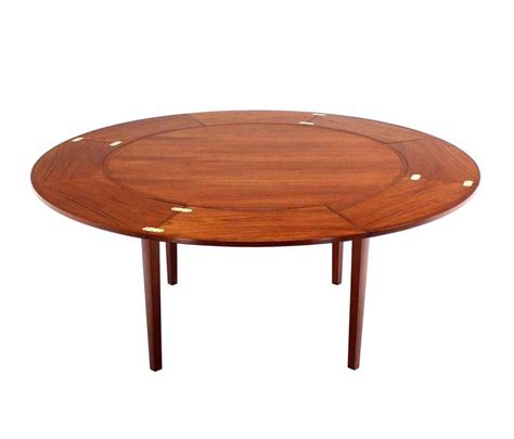 round expandable dining room table rare danish modern teak round expandable top dining table