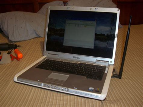 dell laptop wi fi high gain antenna mod increase network cards range and signal 5
