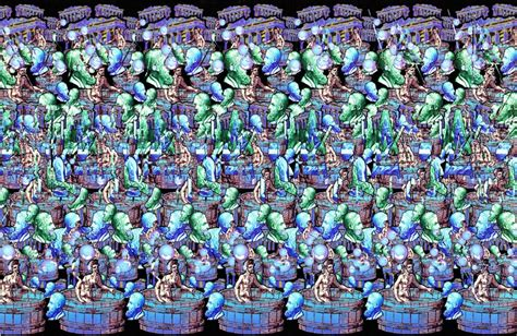 Kaos 3d Magic Dawer a dug a few of these magic eye pictures out of a drawer stereograms magic eye pictures