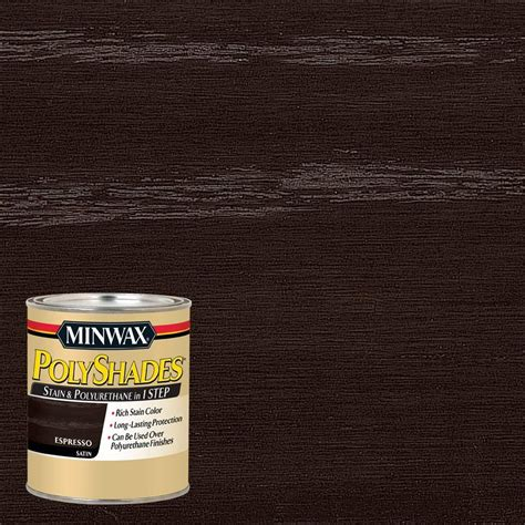 minwax polyshades colors minwax 1 qt polyshades espresso satin 1 step stain and