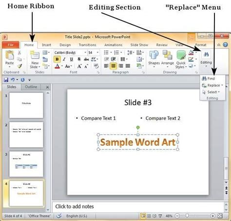 tutorialspoint powerpoint find replace content in powerpoint 2010 the highest