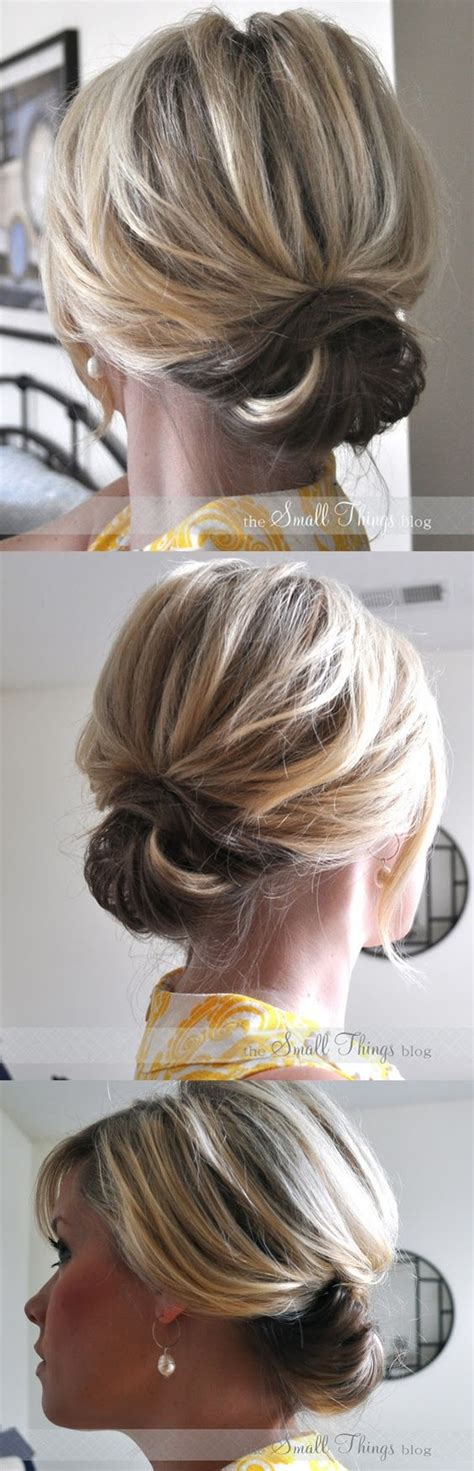 hairstyles wearing hair up diy hairstyle chic up do for short hair step by step