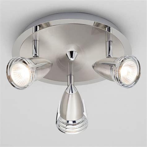 Kitchen Spot Light Gemini Ceiling Spotlight Plate 3 Light Satin Nickel From Litecraft