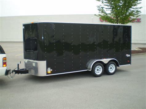 black trailer black enclosed trailer 001 magnumclean