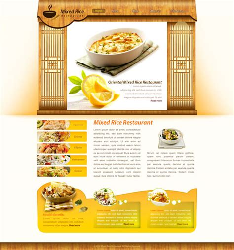 free templates for restaurant website rice restaurant web template free website templates