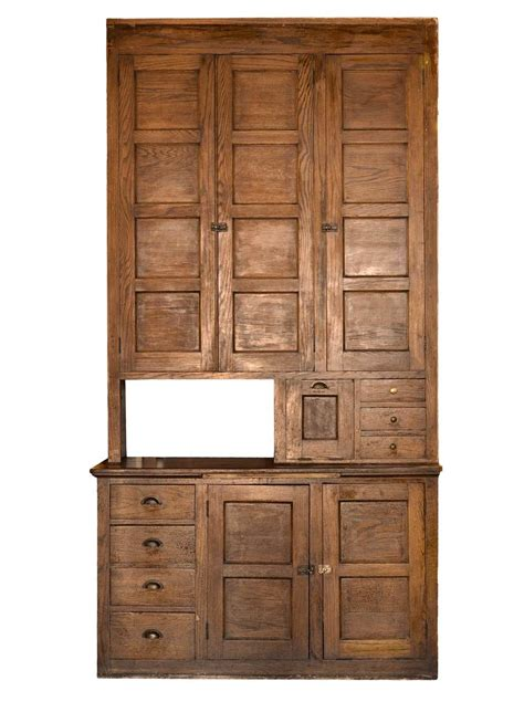 Tall Hutch Tall Oak Built In Kitchen Cabinet Architectural Antiques