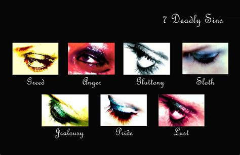 7 deadly sins colors 48 best images about 7 deadly sins on seven