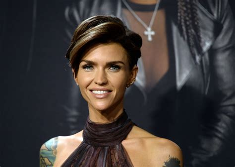 ruby rose before after haircuts ruby rose thinks the face on this new prada bag looks