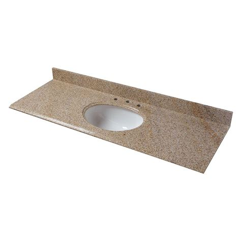 Home Depot Granite Vanity Top by Pegasus 61 In W Granite Vanity Top In Beige With