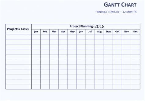 Gantt Chart Word Template by Free Gantt Chart Template Excel Word