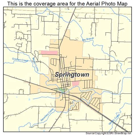 map of springtown texas aerial photography map of springtown tx texas
